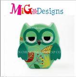 Batería guarra al por mayor de cerámica de la etiqueta del diseño hermoso verde del buho