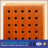 Painel de teto de parede acústica de madeira de absorção de som