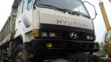 6*4-LHD-Drive carro de vaciado usado Euro3 de la Blanco-Pintura 6~8cbm/15ton Shangai 2003~2006 Hyundai