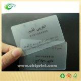 Druk van de Kaart van pvc van de douane de Duidelijke Transparante met het Berijpen (CKT- PC-001)