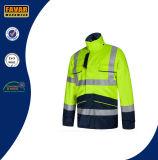 Куртка полиций безопасности движения водоустойчивая отражательная