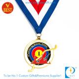 Andenken-Preis-Russland kundenspezifische Decklack-Goldschießen-Medaille