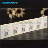 RFID Hf/NFC Tamper Evident Tag/Label/Sticker per Cosmetic/Food/Medicine Tracking