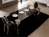 Tabella dell'ufficio di Soho di stile dell'Europa o Tabella pranzante con i piedini artistici dell'acciaio inossidabile