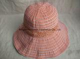 Sombrero hecho a mano de la cinta de Packable del borde de la playa del estilo del borde grande de Floopy Shapeable