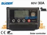 Suoer 60V 30A con el regulador solar de la carga del interfaz del USB de 5V 1A (ST-W6030)