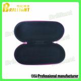 Caisse faite sur commande en verre d'EVA de velours de noir de qualité (025)