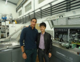 Impresora multicolora de la pantalla de China con el sistema de sequía ULTRAVIOLETA