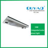 China 10W todo em um fornecedor solar da venda por atacado da luz de rua do diodo emissor de luz