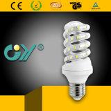 Lumière spiralée inférieure lumineuse élevée de la consommation 11W E27 DEL