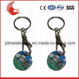 Сплав цинка высекая печатание ваш знак внимания Keychain вагонетки логоса