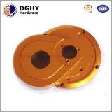China-Fabrik-Aluminiumlegierung Gelb anodisierter CNC, der Ersatzteile maschinell bearbeitet
