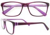 De hete Optische Frames van de Dames van de Verkoop met het Dubbele Frame van de Acetaat van de Kleur