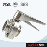 ステンレス鋼のハンドルによって締め金で止められる食糧装置の蝶弁(JN-BV2002)
