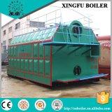 La fábrica de la materia textil utilizó la caldera de vapor encendida carbón