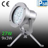 IP68 27W RGB LEIDENE van Tricolor OnderwaterLicht van de Vlek, 27W RGB LEIDENE Lamp van de Fontein