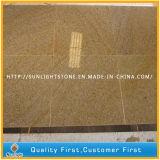 Tuiles en pierre jaunes rouillées normales de plancher/mur du granit G682 (avec les graines)