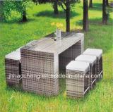 Patio-Garten Aluminium-PET Rattan-Stab, der Möbel-Set speist