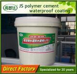 Rivestimento d'impermeabilizzazione elastico del cemento del polimero di Js per il tetto Enginerring impermeabile