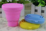 Silikon-Cup-Silikon-Becher-zusammenklappbare Kaffeetasse für Arbeitsweg 200ml