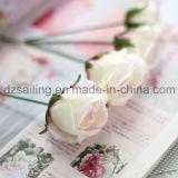 Flor artificial del ramo dulce de Rose usada para DIY y la decoración (SW99002)