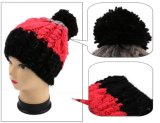 Tricotar manualmente o tampão do Beanie do chapéu do inverno dos homens & das mulheres