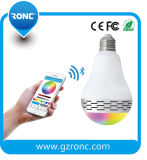 Smart APP Control Colorful LED ampoule avec haut-parleur Bluetooth