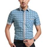 2016 고품질 남자를 위한 100%년 면 최신 디자인 셔츠