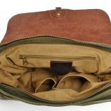 100% Algodão Canvas Messenger Man Shoulder Laptop Satchel Bag (RS -6001P)