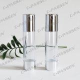 15g 30g 50g como botella cosmética privada de aire transparente plástica con la bomba de la loción (PPC-NEW-021)