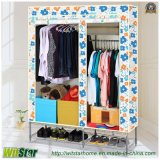 Double poco costoso Door Moistureproof Dustproof Cloth Wardrobe (WS16-0081, per la mobilia della camera da letto)