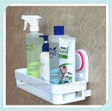 Shampooing de salle de bains d'ABS et panier fixés au mur de coin de support de douche