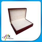 Коробка большого роскошного хранения ювелирных изделий коробки индикации ювелирных изделий деревянная