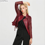 中国のよいQuanlityおよび価格の赤い女性の方法ジャケットのコートの工場