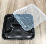 3 parties d'Obentos de micro-onde de conteneur de nourriture remplaçable en plastique avec la couverture