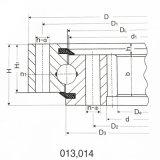 Schwere Geräten-Kreuz-Rollen-interne Gang-Schwenktisch-Peilung für Hitachi