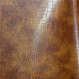 Exported Quality Fake Crocodile PU Microfiber Leather for Furniture Upholstery