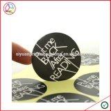 Escritura de la etiqueta de encargo de la impresión de la insignia de la alta calidad