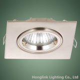 Place réglable Downlight enfoncé par LED de projecteur de l'aluminium 3W 5W LED d'anneau de serrure de torsion
