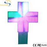 P20 le double de croix de pharmacie de la publicité extérieure LED a dégrossi
