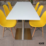 Chine fabricant Solid Surface blanc restaurants Tables