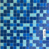 混合されたカラーガラスモザイク、水泳の貧乏人のための建築材料