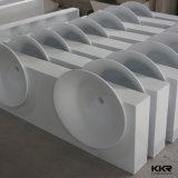 Lavabo extérieur solide de pierre de résine de qualité de Sanitaryware Kkr