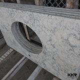 Partie supérieure du comptoir blanche de quartz de glacier de salle de bains avec le Module