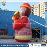 Mono encantador inflable gigante de Commerical, historieta para la venta