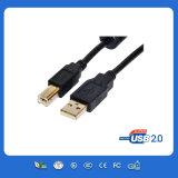 USB preto do micro para a carga móvel