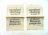 Gedrucktes Logo Label für Garment