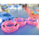 두 배 팽창식 물 뜨 반지 또는 팽창식 물 공원 스포츠 게임