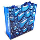 Bolso azul no tejido laminado diseñador promocional (LJ-107)