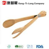 Pinces en bambou de salade de cuisine respectueuse de l'environnement